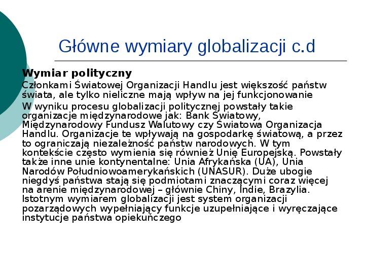 Globalizacja - Slajd 9