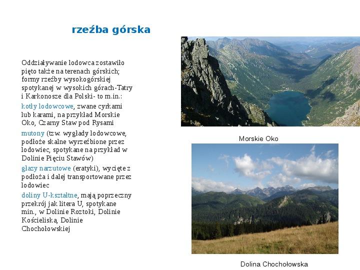 Zlodowacenia w Polsce oraz formy polodowcowe - Slajd 8