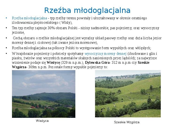 Zlodowacenia w Polsce oraz formy polodowcowe - Slajd 11