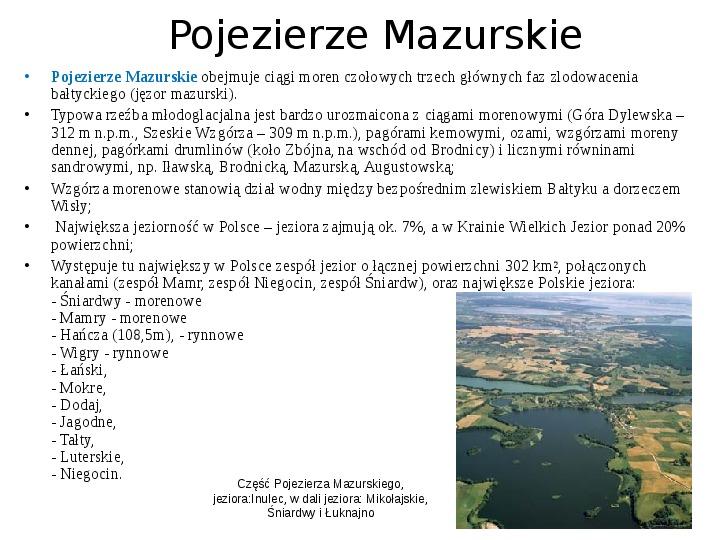 Zlodowacenia w Polsce oraz formy polodowcowe - Slajd 15