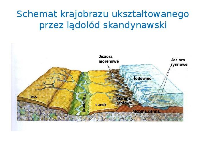 Zlodowacenia w Polsce oraz formy polodowcowe - Slajd 19
