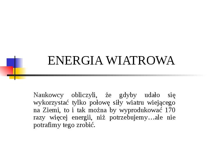 Energia wiatru - Slajd 0