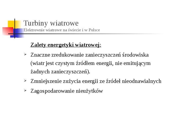 Energia wiatru - Slajd 15