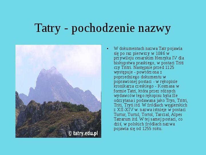 Tatrzański Park Narodowy - Slajd 28