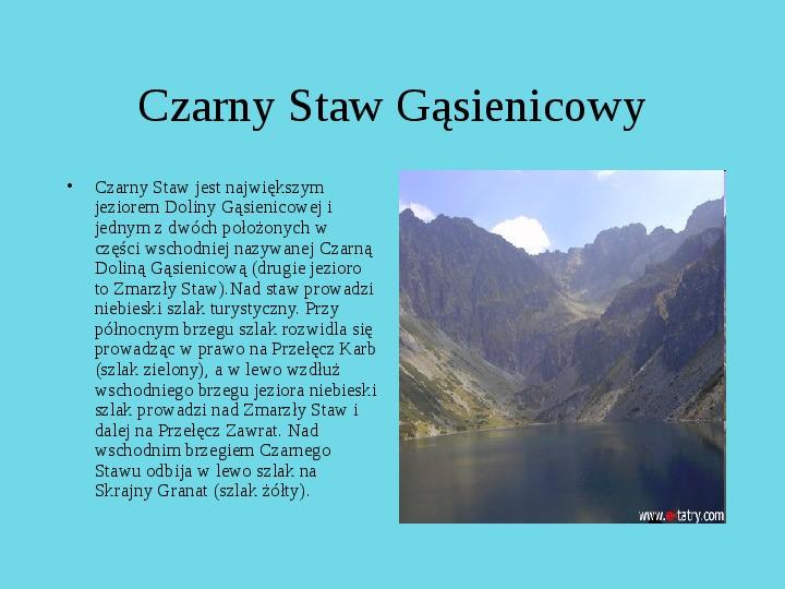 Tatrzański Park Narodowy - Slajd 29