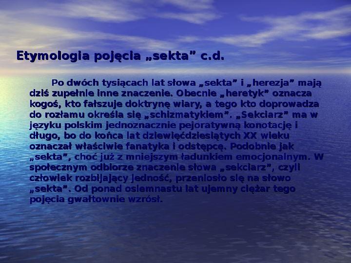 Sekty i ruchy religijne w Polsce współczesnej - Slajd 2