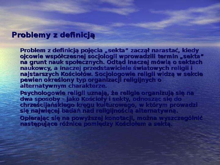 Sekty i ruchy religijne w Polsce współczesnej - Slajd 3