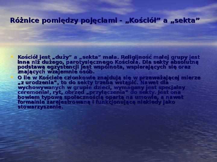 Sekty i ruchy religijne w Polsce współczesnej - Slajd 4