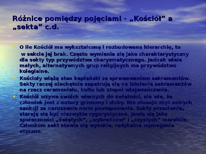 Sekty i ruchy religijne w Polsce współczesnej - Slajd 5