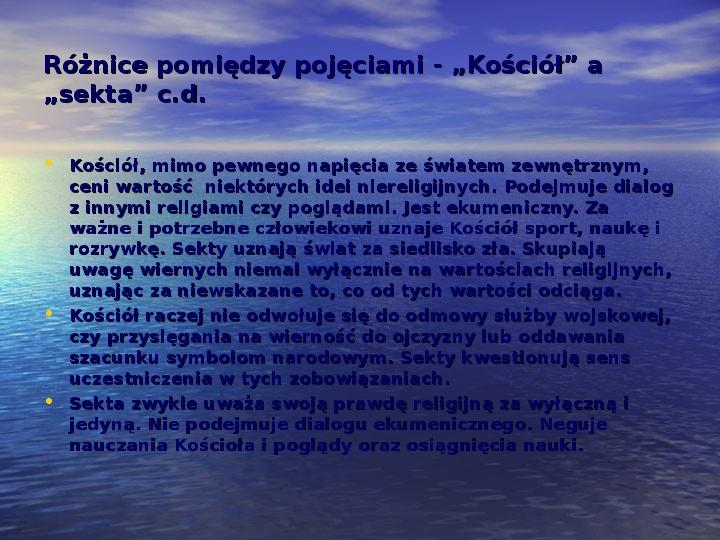 Sekty i ruchy religijne w Polsce współczesnej - Slajd 6