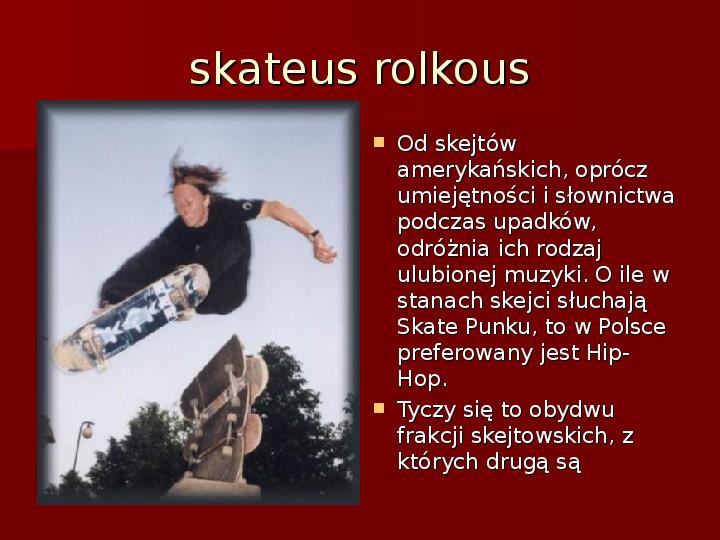 Subkultury młodzieżowe - Slajd 43
