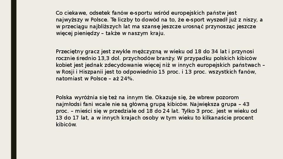 Esport - Slajd 3