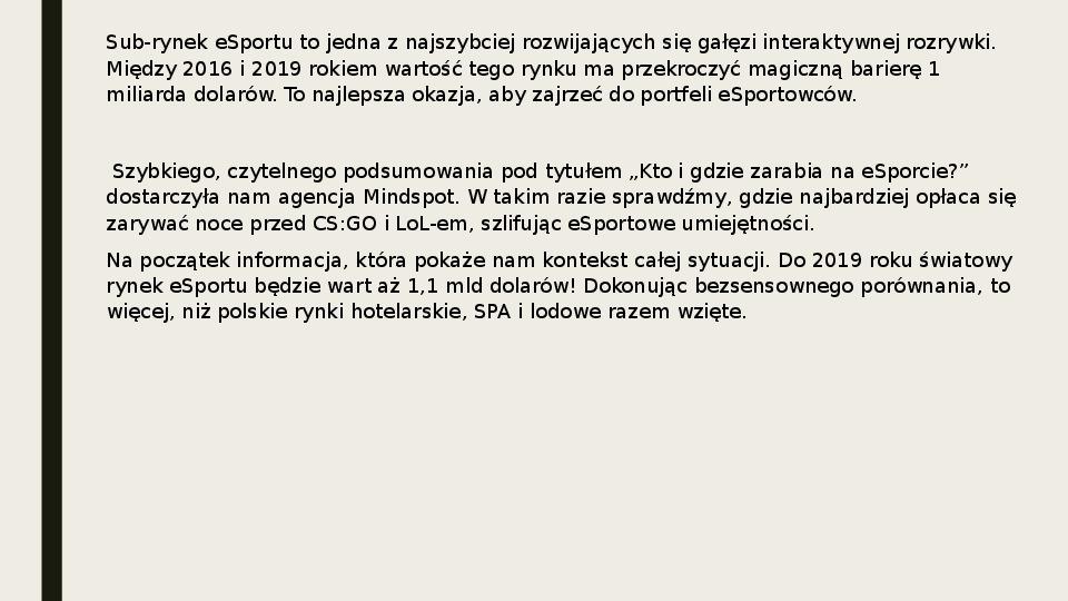 Esport - Slajd 5