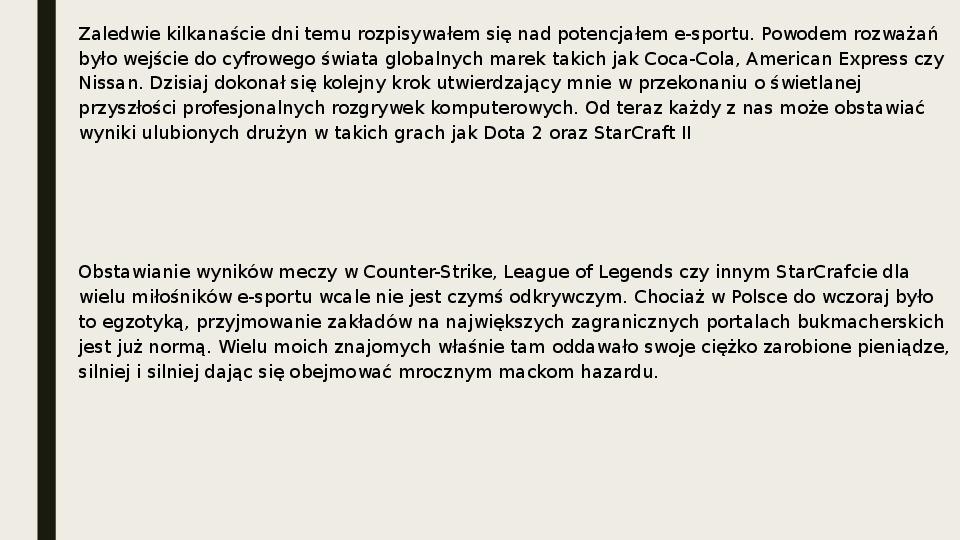 Esport - Slajd 8