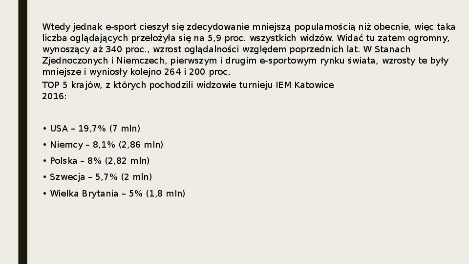 Esport - Slajd 18