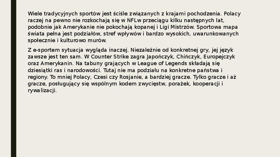 Esport - Slajd 25