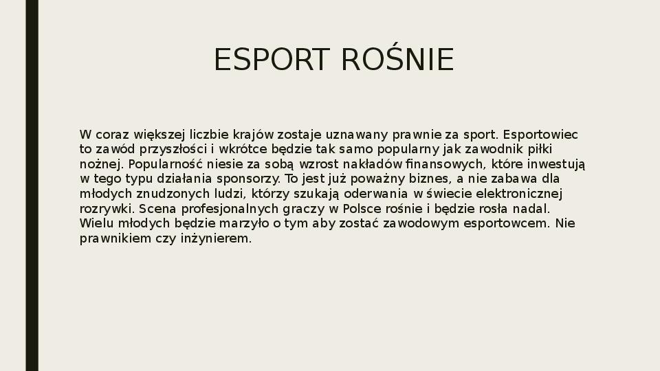 Esport - Slajd 32