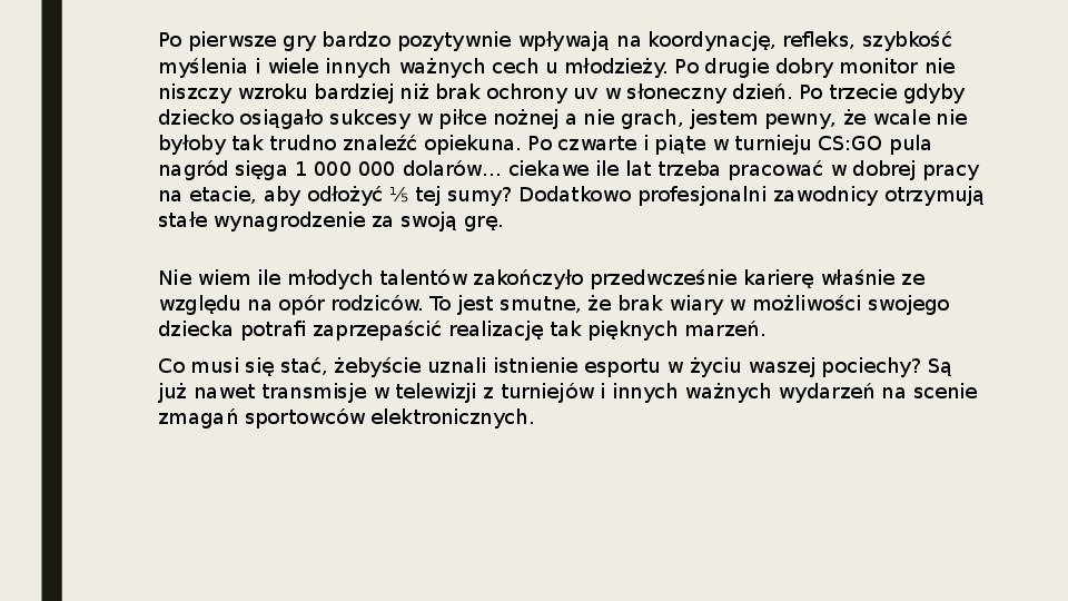 Esport - Slajd 34