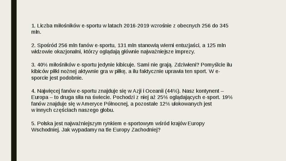 Esport - Slajd 38