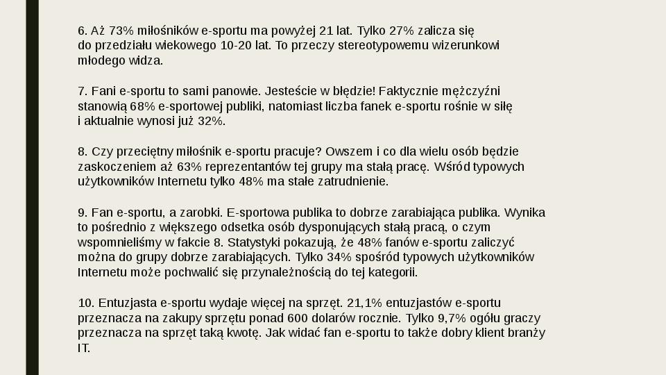 Esport - Slajd 39