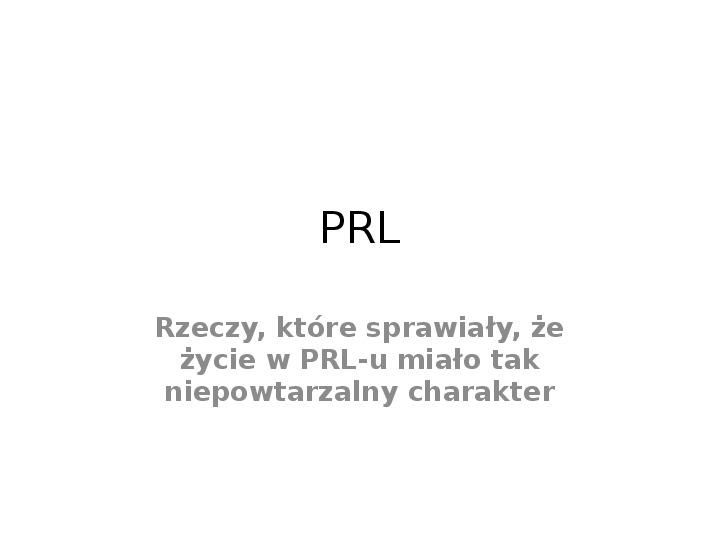 PRL - Slajd 1