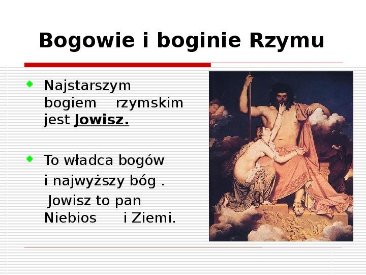 Bogowie starożytnego Rzymu i osiągnięcia techniczne Rzymian - Slajd 1