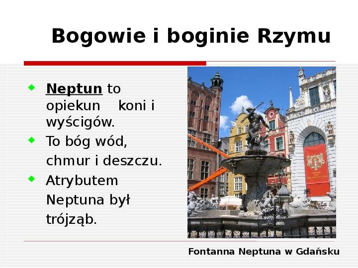 Bogowie starożytnego Rzymu i osiągnięcia techniczne Rzymian - Slajd 4