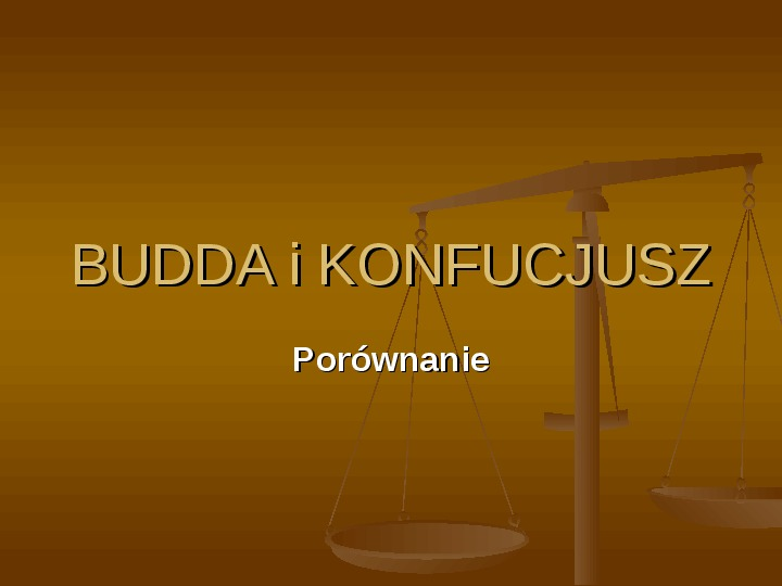Budda i konfucjusz - Slajd 1