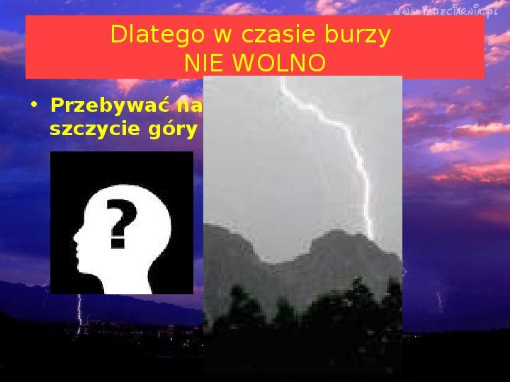 Co jest przyczyną burzy? - Slajd 10