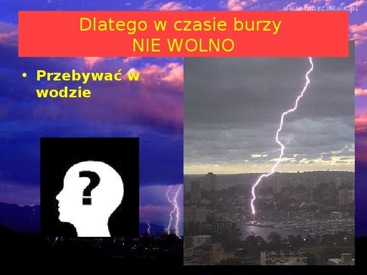 Co jest przyczyną burzy? - Slajd 11