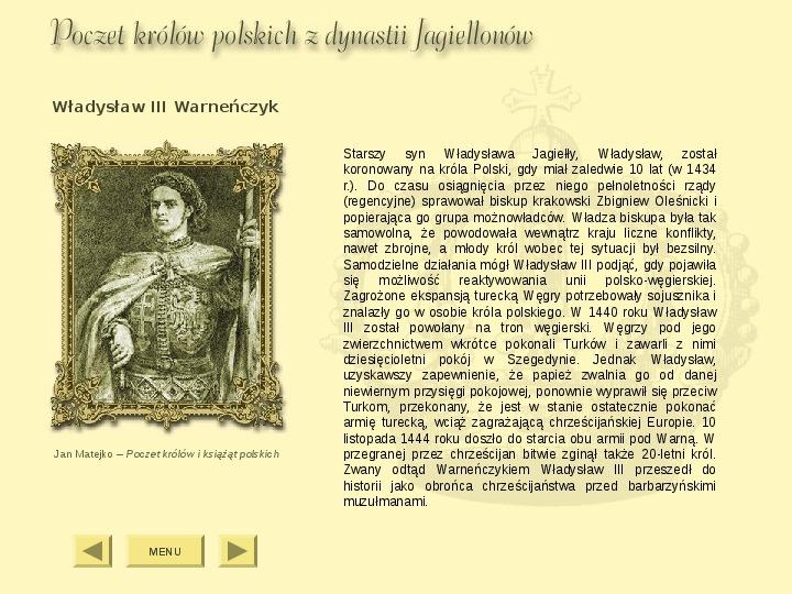 Królowie Polski z dynastii Jagiellonów - Slajd 4
