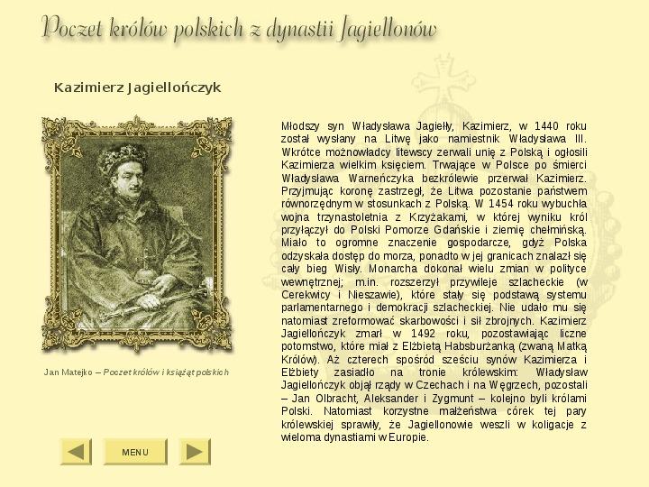 Królowie Polski z dynastii Jagiellonów - Slajd 5