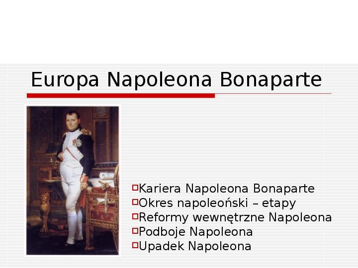 Europa Napoleona Bonaparte - Slajd 1