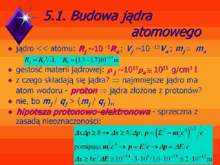 Fizyka jądrowa - Slajd 1