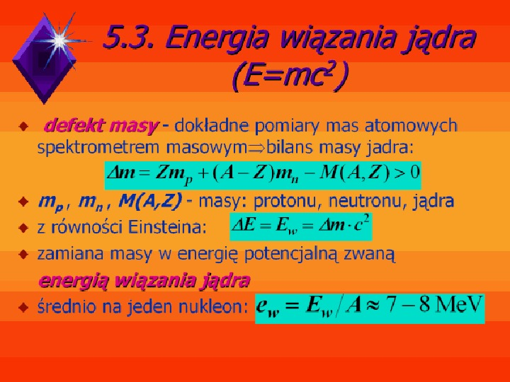 Fizyka jądrowa - Slajd 5