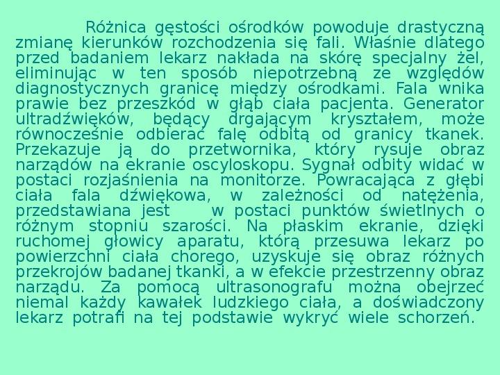 Fizyka w medycynie - Slajd 12