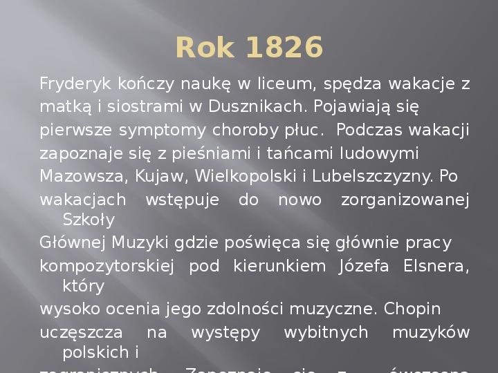 Fryderyk Chopin - kalendarium życia - Slajd 5