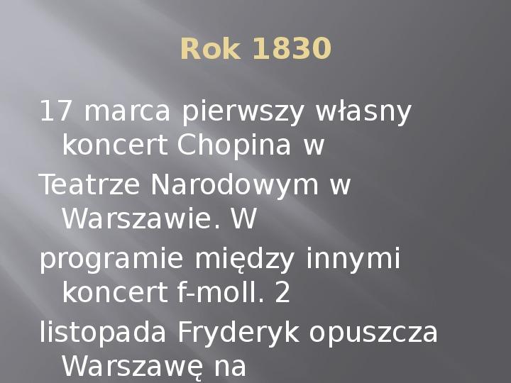 Fryderyk Chopin - kalendarium życia - Slajd 8