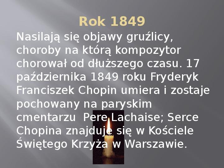 Fryderyk Chopin - kalendarium życia - Slajd 14