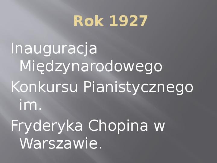 Fryderyk Chopin - kalendarium życia - Slajd 16