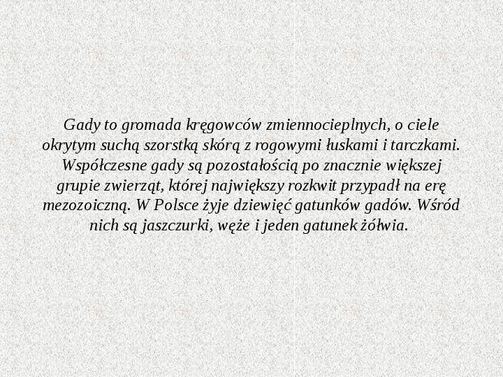Gady Polski - Slajd 1
