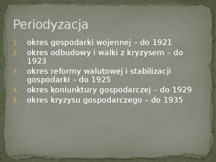 Gospodarka II RP - Slajd 1