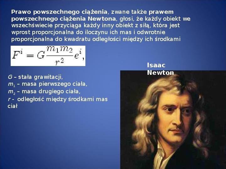 Grawitacja i elementy kosmologi - Slajd 2