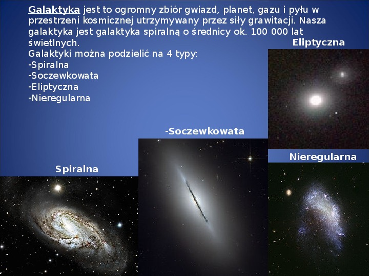 Grawitacja i elementy kosmologi - Slajd 9