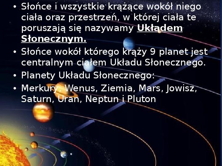 Grawitacja i elementy kosmologi - Slajd 10