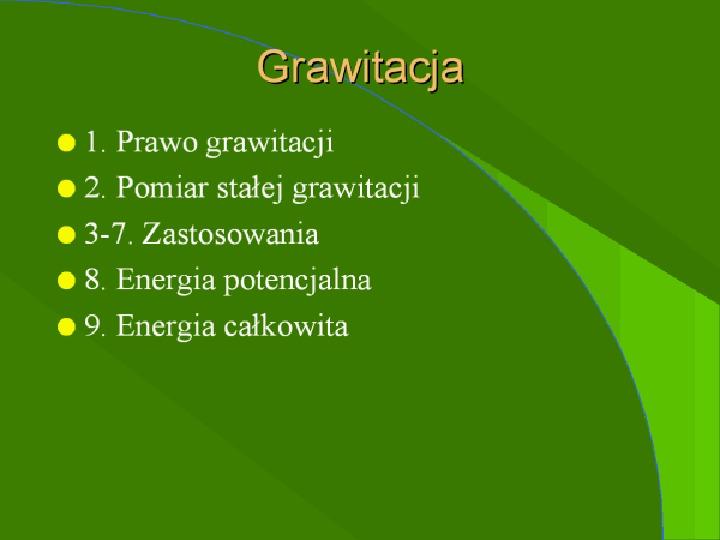 Grawitacja - Slajd 1