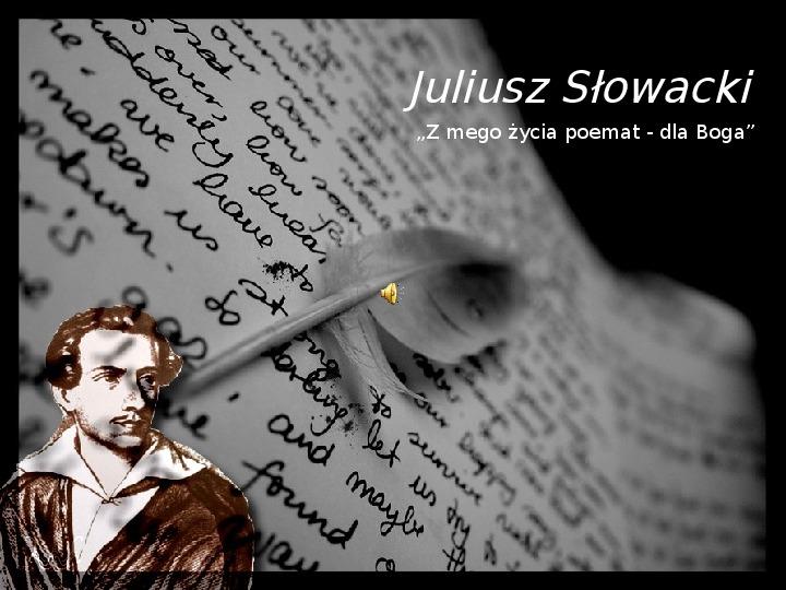 Juliusz Słowacki - Slajd 1