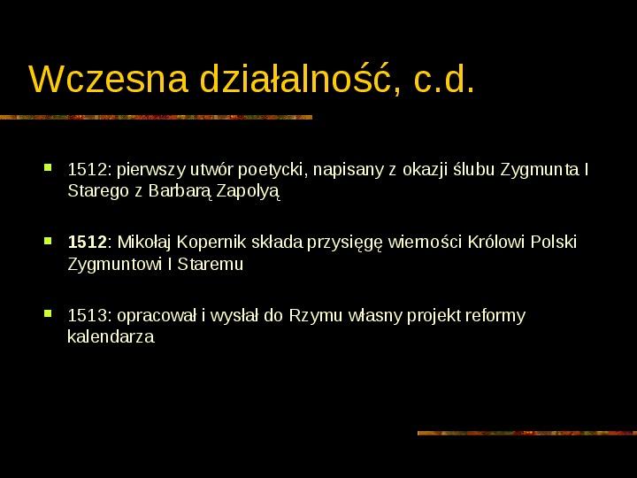 Mikołaj Kopernik - Slajd 6