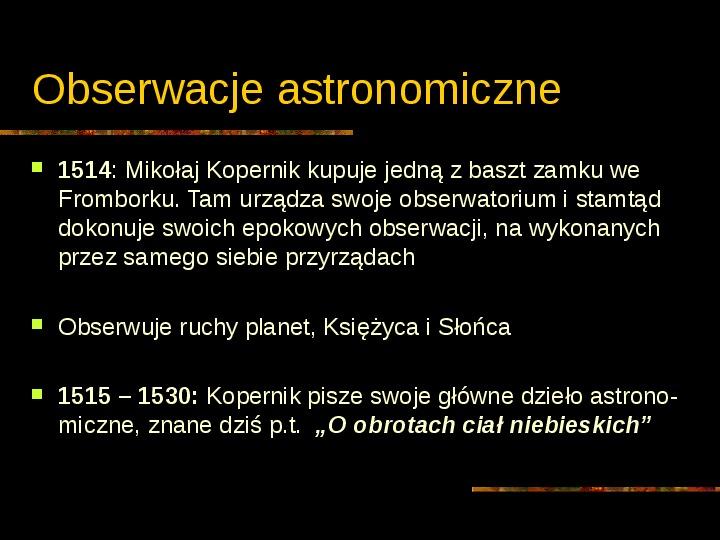 Mikołaj Kopernik - Slajd 7