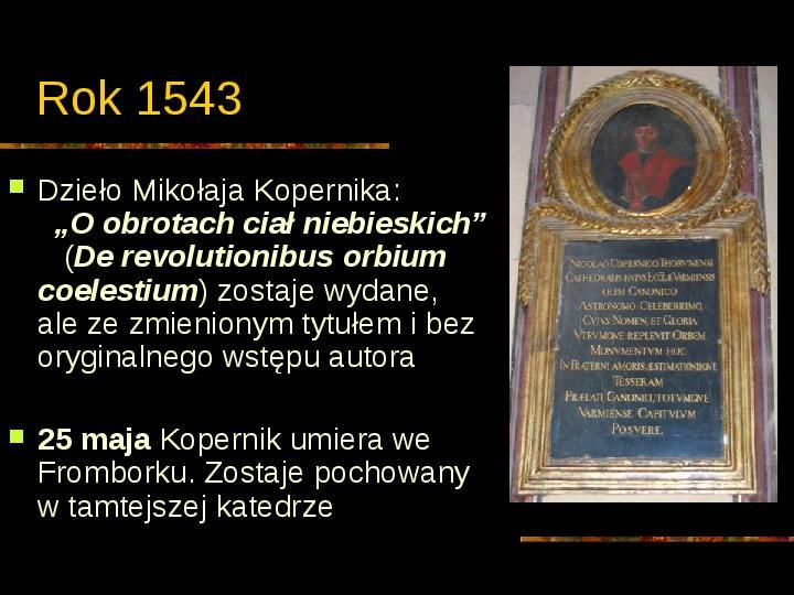 Mikołaj Kopernik - Slajd 12
